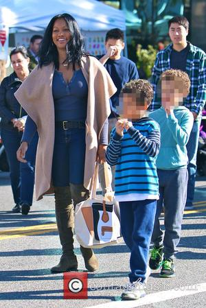 Garcelle Beauvais, Jax Joseph Nilon and Jaid Thomas Nilon - Garcelle Beauvais takes her twin sons to the Studio City...