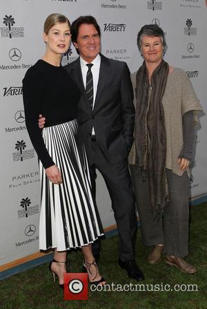 Rosamund Pike, Rob Marshall and Helen Du Toit