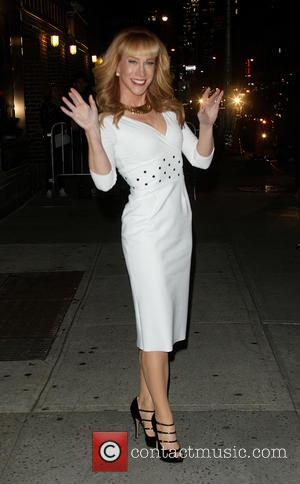 Kathy Griffin - Celebrities outside the Ed Sullivan Theater as they arrive for their taping on the Late Show with...