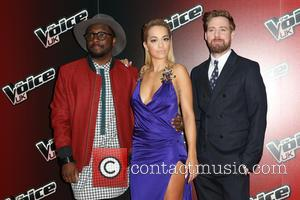 Rita Ora, Will.I.Am and Ricky Wilson - Photos from the launch of the 4th season of The Voice UK which...