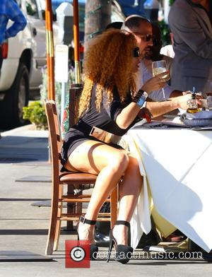 Afida Turner - Afida Turner and Lloyd Klein dine at ll Pastaio Restaurant in Beverly Hills - Los Angeles, California,...