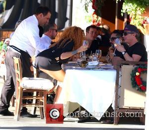 Afida Turner and Lloyd Klein - Afida Turner and Lloyd Klein dine at ll Pastaio Restaurant in Beverly Hills -...