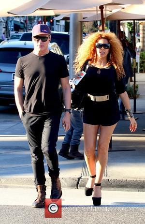 Lloyd Klein and Afida Turner - Afida Turner and Lloyd Klein dine at ll Pastaio Restaurant in Beverly Hills -...