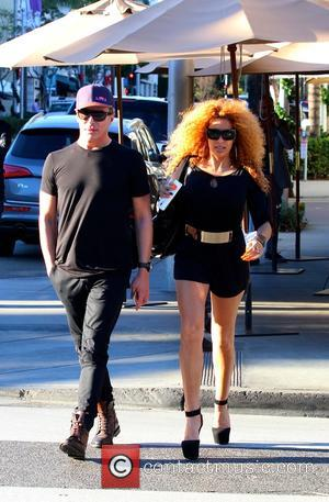 Lloyd Klein and Afida Turner - Afida Turner and Lloyd Klein dine at ll Pastaio Restaurant in Beverly Hills -...