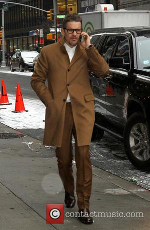 Ethan Hawke - Celebrities outside the Ed Sullivan Theater, as they arrive for their taping on the 'Late Show with...