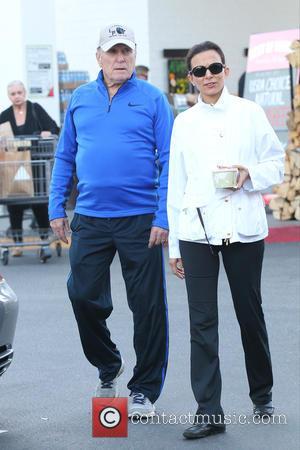 Robert Duvall and Luciana Pedraza - Robert Duvall and wife Luciana Pedraza seen grocery shopping at Bristol Farm in West...