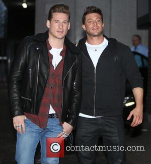Blue, Lee Ryan and Duncan James - Members of boyband Blue outside the ITV studios - London, United Kingdom -...