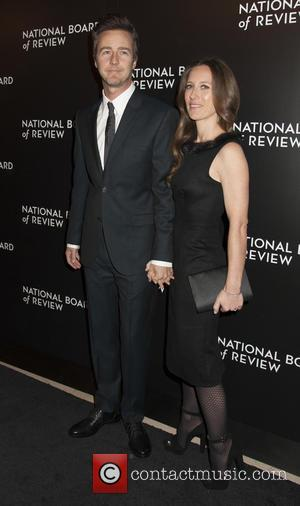 Edward Norton and Shauna Robertson - 2014 National Board of Review Gala at Cipriani 42nd Street - Arrivals - New...