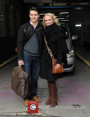 Tom Chambers and Camilla Dallerup - Camilla Dallerup and Tom Chambers seen at ITV Studios in South London - London,...