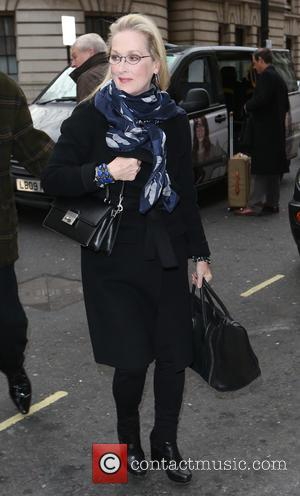 Hollywood actress Meryl Streep who has recently starred in the Disney musical 'Into The Woods' was photographed as she arrived...