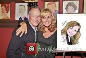 Devin Keudell and Judy McLane - Mamma Mia leading star Judy McLane portrait unveiling at Sardi's theatre district eatery. at...