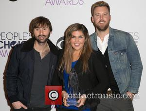 Dave Haywood, Hillary Scott, Charles Kelley and Lady Antebellum - The 41st Annual People's Choice Awards - Press Room at...