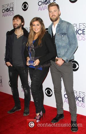 Dave Haywood, Hillary Scott, Charles Kelley and of the music group 'Lady Antebellum' - A variety of stars were photographed...