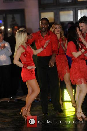Simon Webbe Kristina Rihanoff - 'Strictly Come Dancing' contestants on 'The One Show' at Strictly Come Dancing - London, United...