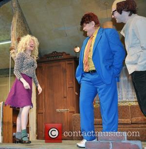 Domhnall Gleeson, Brendan Gleeson and Brian Gleeson - Brendan Gleeson with his two sons, Brian and Domhnall Gleeson in costume...