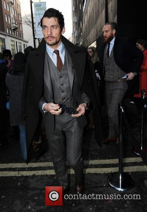 David Gandy - London Collections: Men - Topman Design at The Old Sorting Office - London, United Kingdom - Friday...