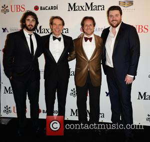 Josh Groban, Jeff Koons, Paul Lehr and Chris Young - 2015 YoungArts Backyard Ball held at YoungArts Campus - Arrivals...