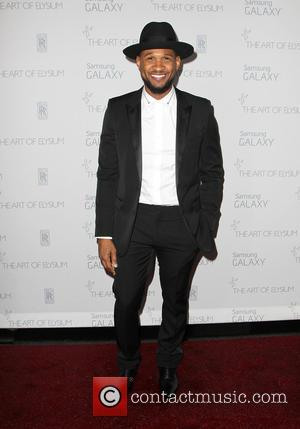 Usher - A variety of stars were snapped as they arrived for the Art of Elysium's 8th Annual Heaven Gala...