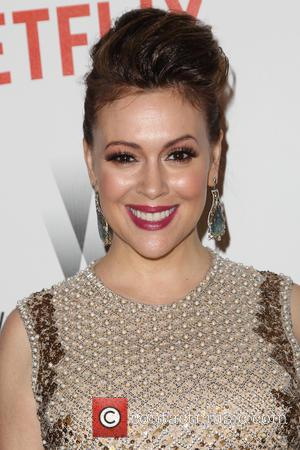Alyssa Milano - 2015 Weinstein Company and Netflix Golden Globes After Party at The Beverly Hilton Hotel at Robinsons May...