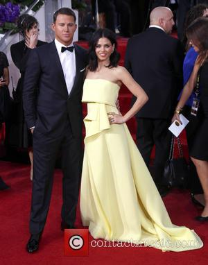 Channing Tatum and Jenna Dewan - 72nd Annual Golden Globe Awards at The Beverly Hilton Hotel - Arrivals at Golden...