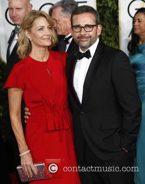 Steve Carell and Nancy Carell - 72nd Annual Golden Globe Awards at The Beverly Hilton Hotel - Arrivals at Golden...