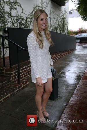 Shots of British actress and recent winner of a Golden Globe Joanne Froggatt as she left the A.O.C. restaurant which...
