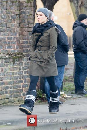 Noomi Rapace - Noomi Rapace spotted heading to set for her new film Unlocked in central London. - London, United...