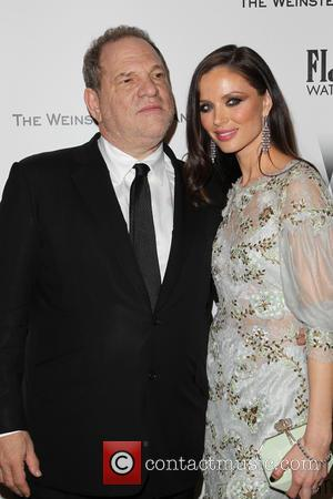 Harvey Weinstein and Georgina Chapman - Shots from the 2015 Weinstein Company and Netflix Golden Globes After Party as a...