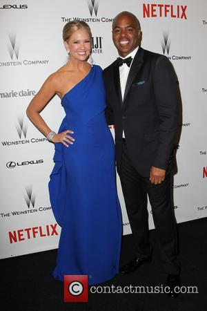 Nancy O'Dell and Kevin Frazier - Shots from the 2015 Weinstein Company and Netflix Golden Globes After Party as a...