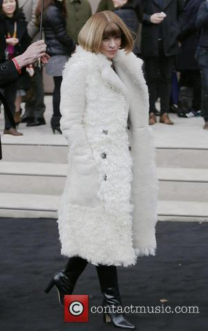Anna Wintour - A variety of fashionable stars were snapped as they attended the Burberry Prorsum fashion show, London Collections:...