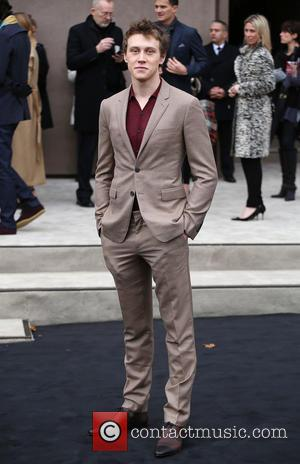 George Mackay - A variety of fashionable stars were snapped as they attended the Burberry Prorsum fashion show, London Collections:...