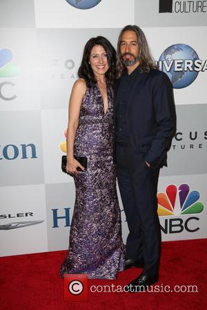 Lisa Edelstein and Robert Russell - A host of stars were snapped as they arrived for NBC/Universal's 72nd Annual Golden...