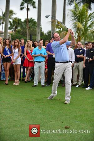 Matt Ginella and Contestant - Donald Trump opens Red Tiger Golf Course at Trump National Doral at Trump National Doral...