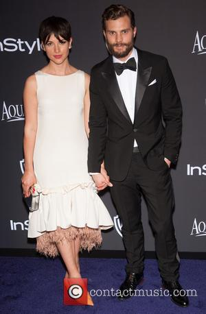 Jamie Dornan and Amelia Warner - 16th Annual InStyle and Warner Bros. Golden Globe afterparty - Arrivals at Beverly Hilton...