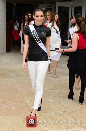 Henrietta Kelemen from Miss Hungary - Donald Trump opens Red Tiger Golf Course at Trump National Doral at Trump National...