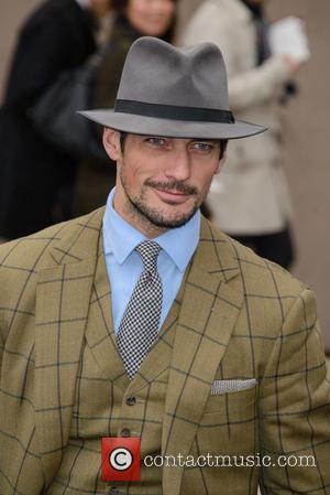 David Gandy - LCM Autumn/Winter 2015 - Burberry Prorsum (Men's) - Arrivals - London - Monday 12th January 2015