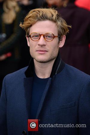 James Norton - LCM Autumn/Winter 2015 - Burberry Prorsum (Men's) - Arrivals - London - Monday 12th January 2015