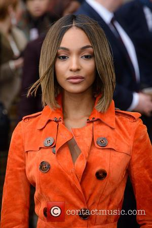 Jourdan Dunn - LCM Autumn/Winter 2015 - Burberry Prorsum (Men's) - Arrivals - London - Monday 12th January 2015