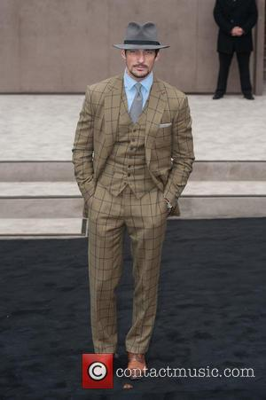 David Gandy - London Collections: Men Autumn/Winter 2015 - Burberry Prorsum (Men's) - Arrivals - London, United Kingdom - Monday...