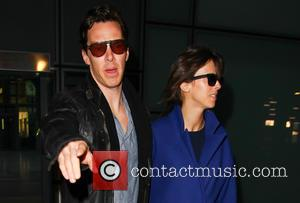 Benedict Cumberbatch and Sophie Hunter - Shots of the British actor Benedict Cumberbatch who plays Sherlock in the BBC series...