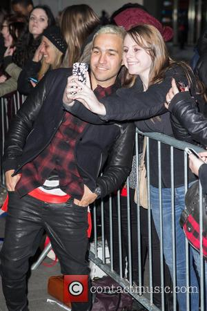 Bassist from the American alternative rock band Fall out Boy, Pete Wentz was photographed as he arrived at the BBC...
