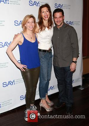 Maddie Corman, Alysia Reiner and David Alan Basche