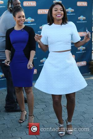 Gabrielle Union and Regina Hall - Gabrielle Union and Regina Hall appear on 'Extra' at Universal Studios - Los Angeles,...