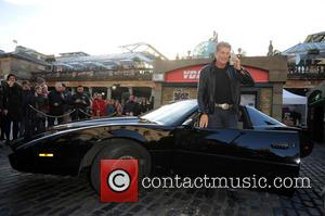 David Hasselhoff and Kitt Car From Knight Rider