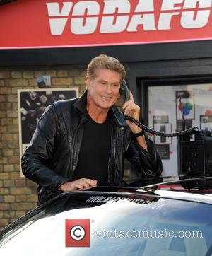 David Hasselhoff and Kitt Car from Knight Rider - David Hasselhoff and Kitt today launch Vodafones 1984G Street, A 1980s...
