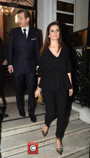 Colin Firth and Livia Giuggioli - The 'Kingsman: The Secret Service' cast leaving Hunters Saville Row after there pre-premiere cocktail...