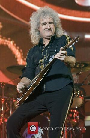 Brian May - Queen and Adam Lambert headlining at the SSE Hydro at the SECC at SSE Hydro SECC -...