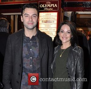 Aidan Turner and Sarah Greene - Opening night of The Walworth Farce at The Olympia Theatre - Arrivals - Dublin,...