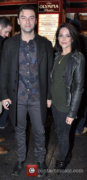 Aidan Turner and Sarah Greene