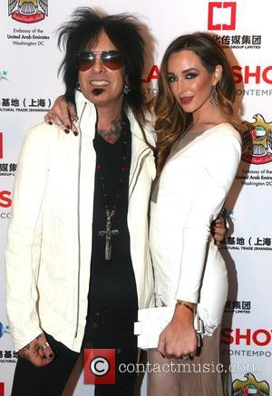 Nikki Sixx and Courtney Sixx - 2015 LA Art Show at the Los Angeles Convention Center at Los Angeles Convention...